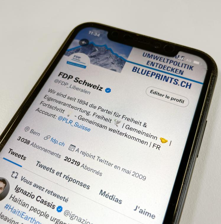 FDP Twitter Profil auf eine iPhone